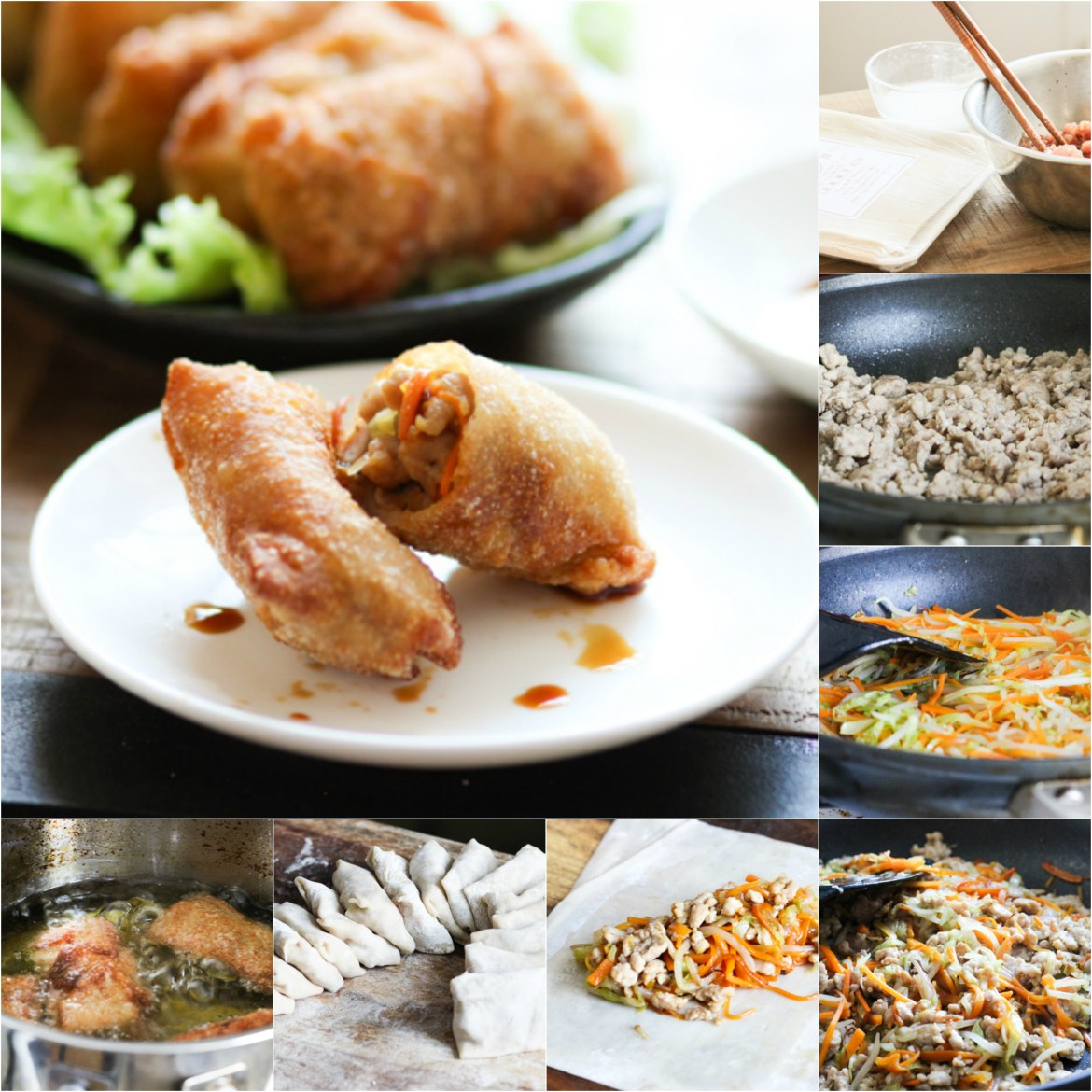 How to make home-made egg rolls