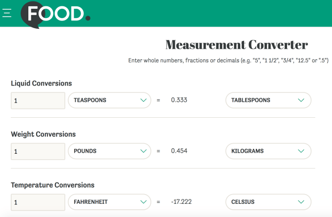 Measurement Converter