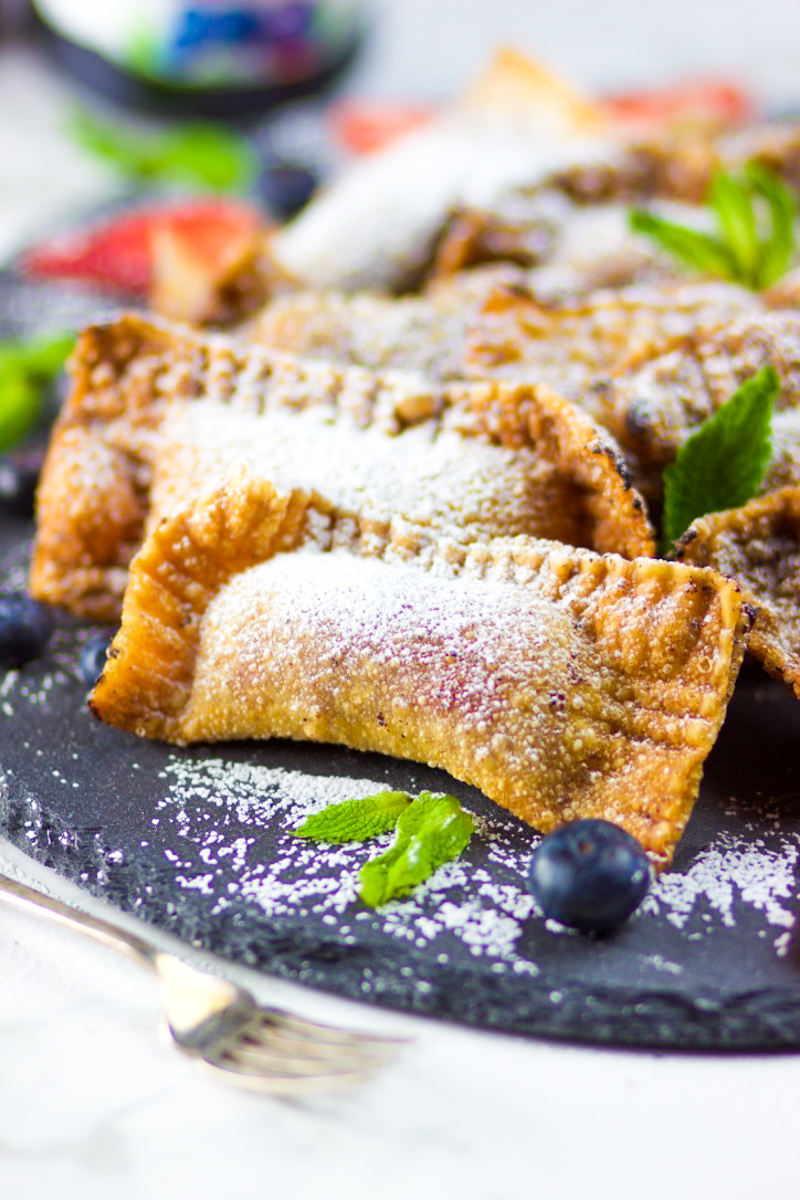 Fruit Pies in Wonton Wrappers with Hero Fruit Spread