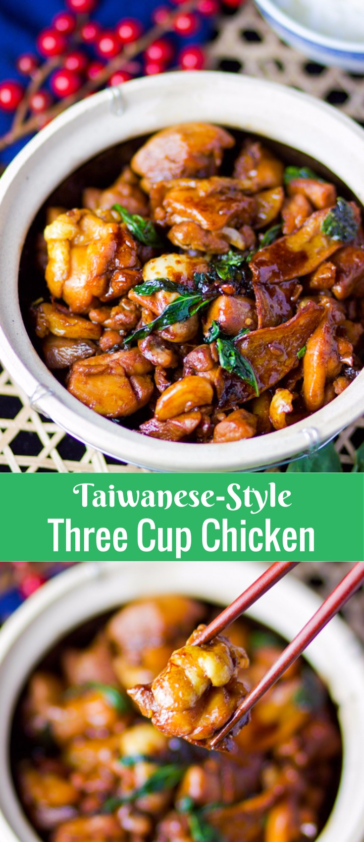 -Style Three Cup Chicken for Pinterest