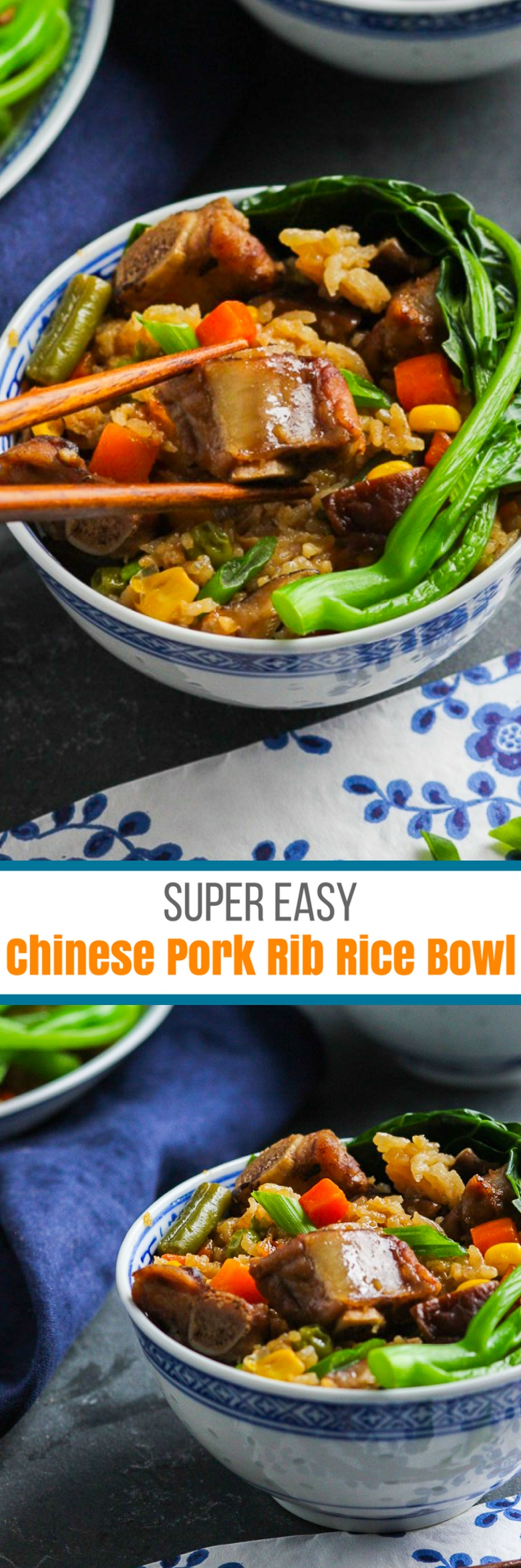 Chinese Pork Rib Rice Bowl For Pinterest