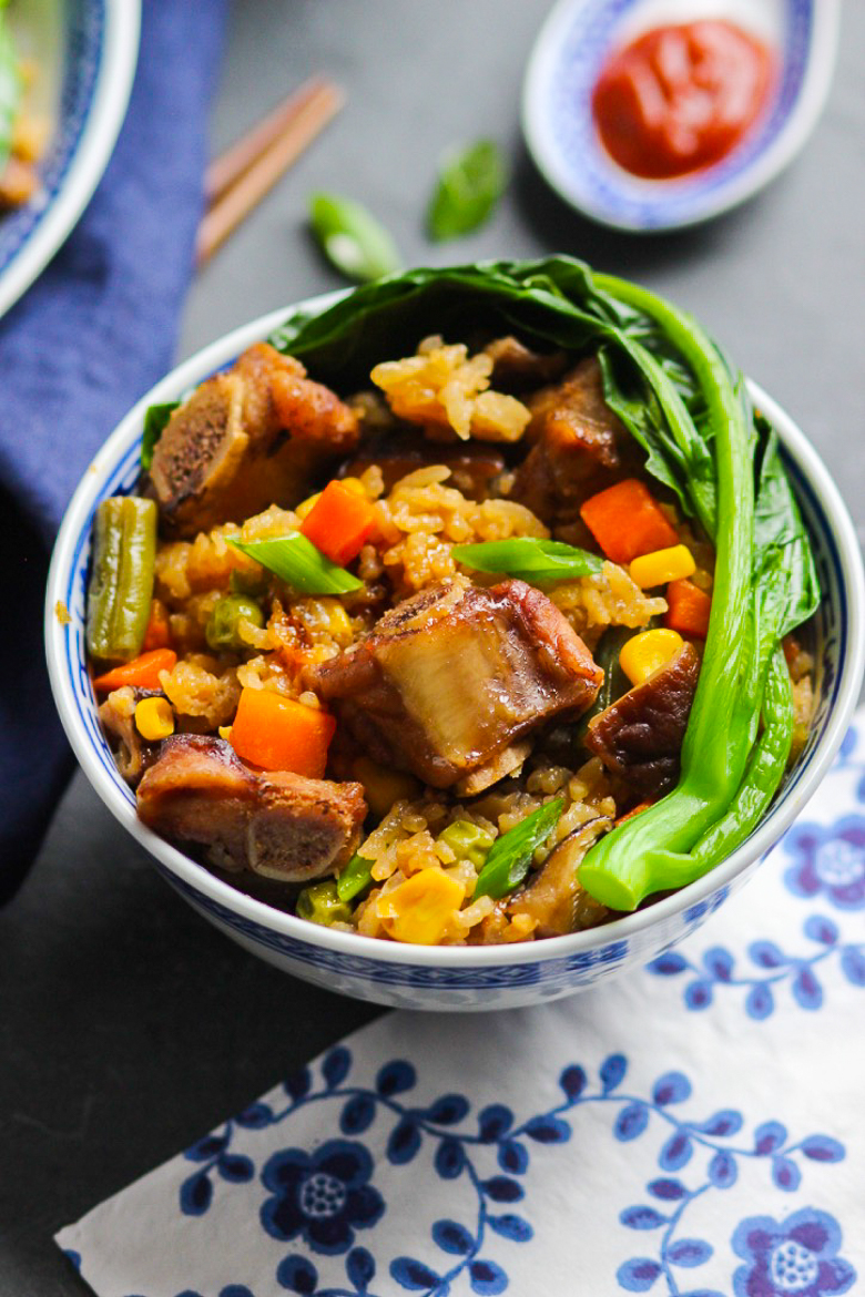 Super easy chinese pork rib rice bowl spice the plate super easy chinese pork rib rice bowl forumfinder Images