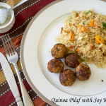 Quinoa Pilaf with Soy Kebabs-DFT