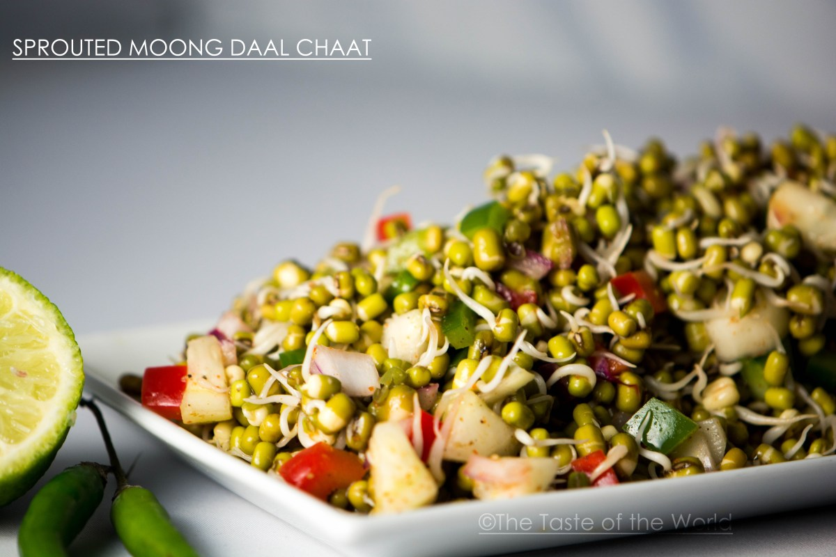 Sprouted Moong Daal Chaat