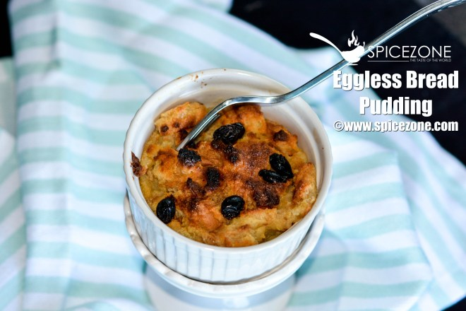 eggless bread Pudding