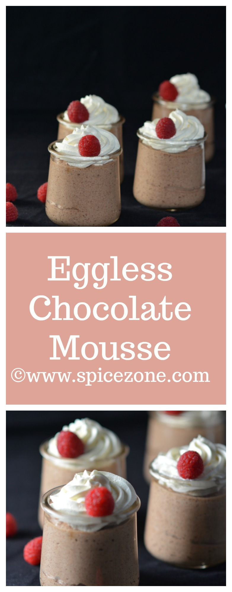 Eggless Chocolate Mousse | Easy dessert recipe - Spice Zone