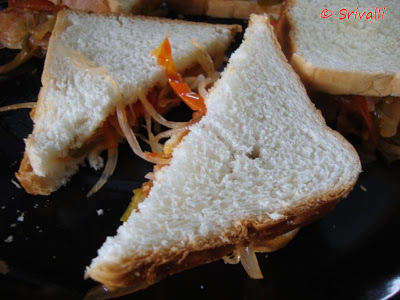 Microwave Grilled Sandwich