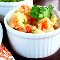 Mashed Potato with Burnt Tomatoes and Chillie from Nagaland