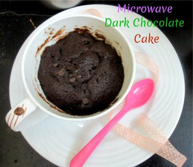 Microwave Dark Chocolate Cake