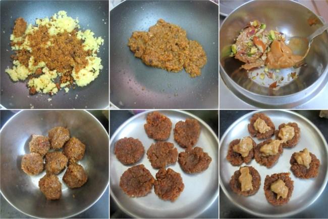 How to make Stuffed Coconut Khoya Ladoo 2