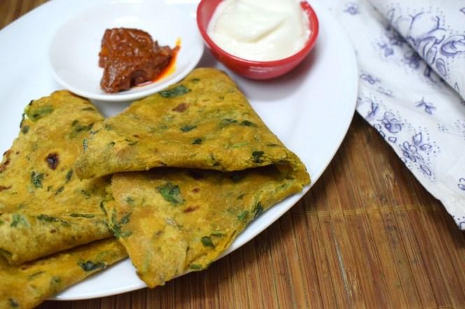 Green Leafy Paratha