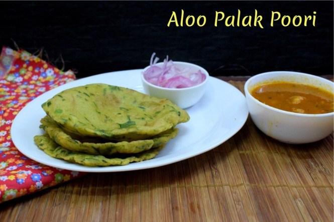 Aloo Palak Poori
