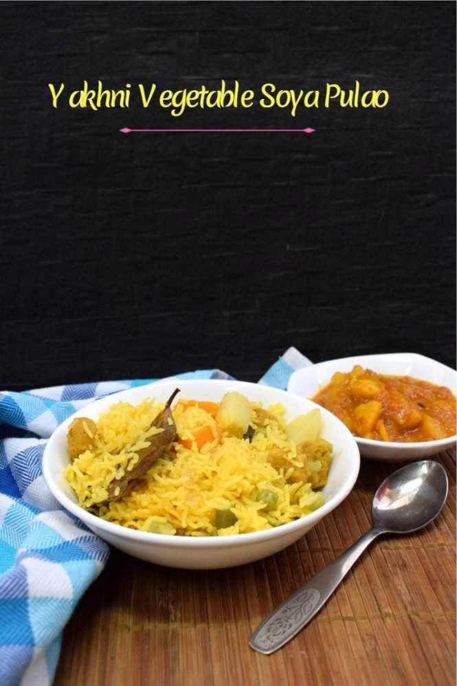 How to make Yakhni Vegetable Soya Pulao