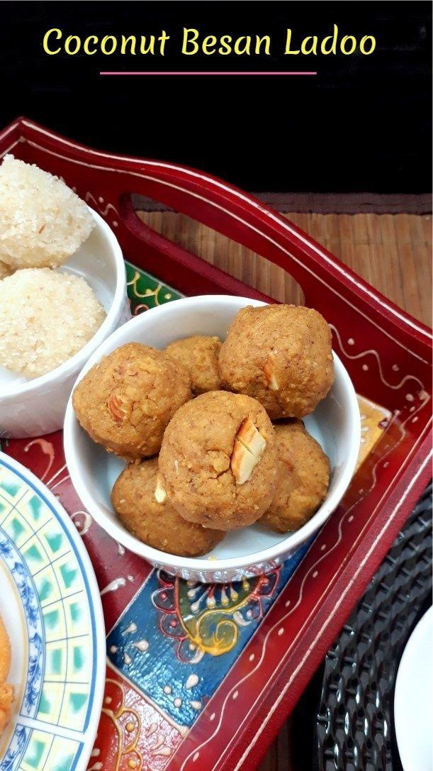 Coconut Besan Ladoo
