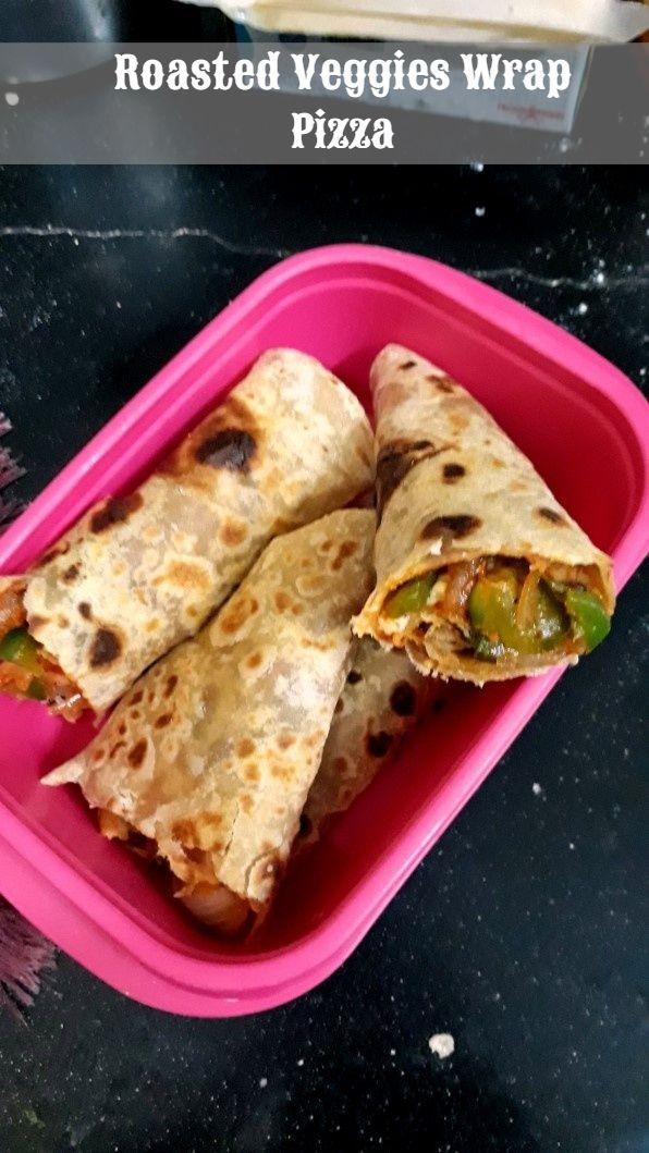 Roasted Veggies Wrap Pizza