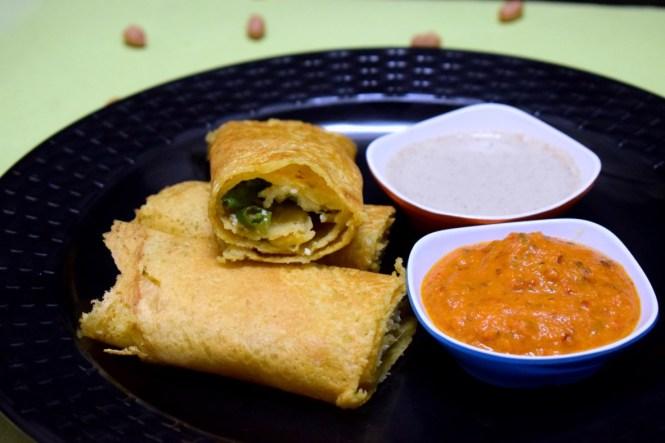 Moong Dal Cheela stuffed Paneer