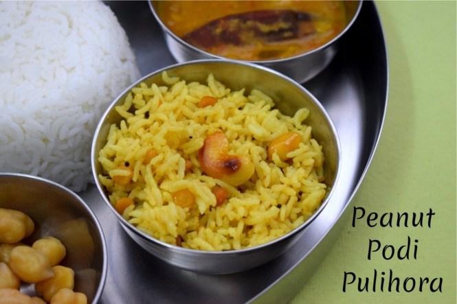 Peanut Podi Pulihora