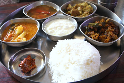 Chow Chow Sambar ~ South Indian Lunch Thali