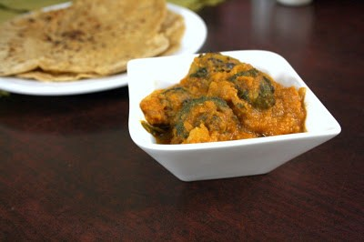 Potato Stuffed Karela Curry