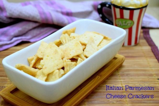 Italian Parmesan Cheese Crackers