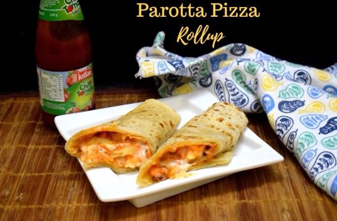 Parotta Pizza Rollup