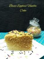 Basic Eggless Vanilla Cake