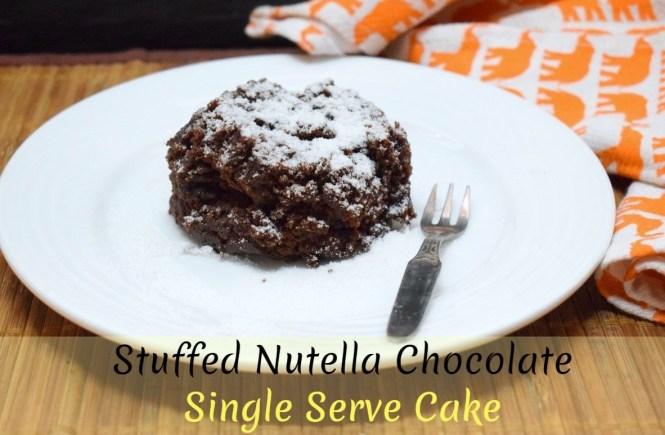Stuffed Nutella Chocolate Mug Cake