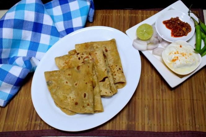 Goan Style Xacuti Masala Stuffed Paratha