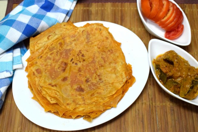 Spicy layered paratha