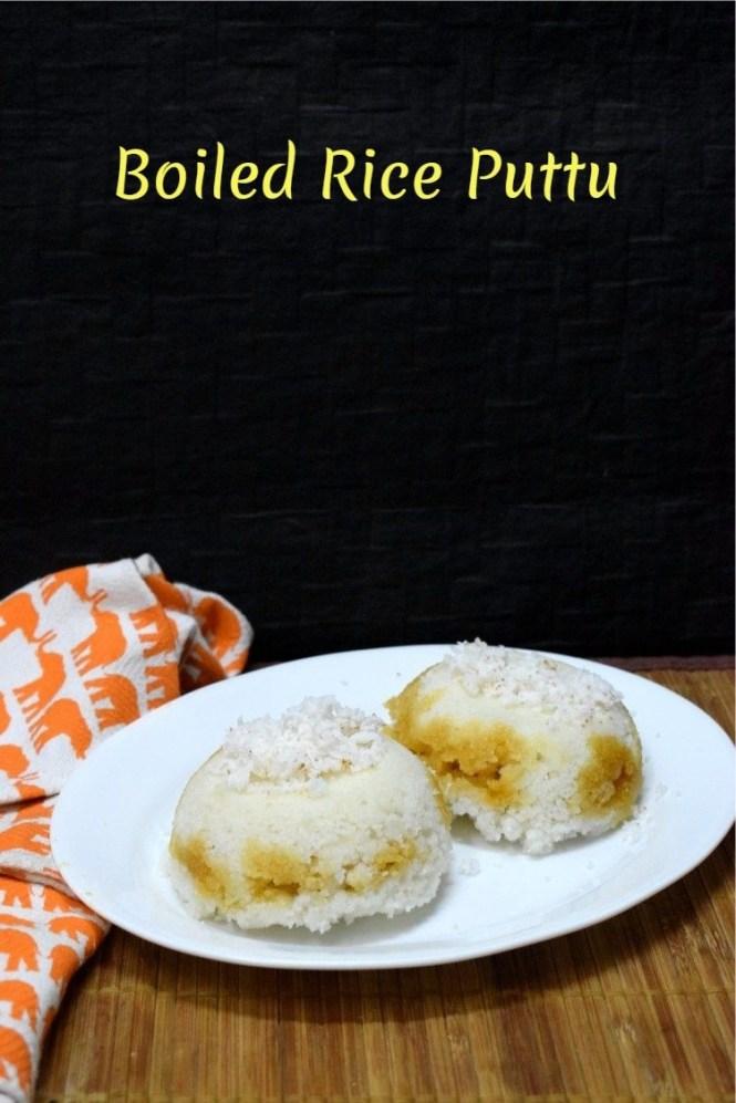 How to make Boiled Rice Puttu