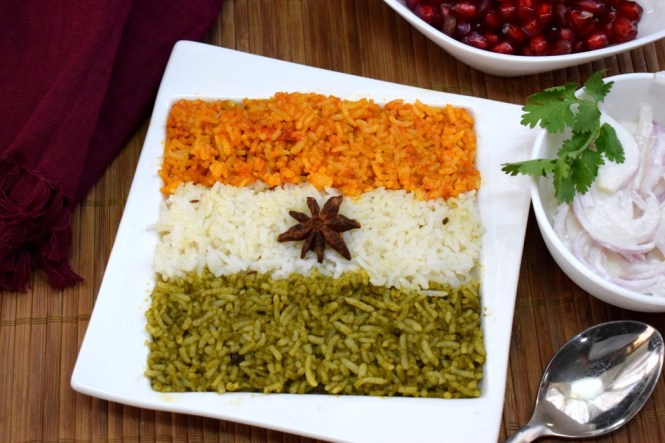 Indian Flag Inspired Tricolour Rice