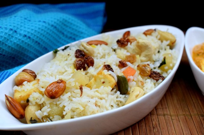 Rice with Roasted Vegetables and Nuts