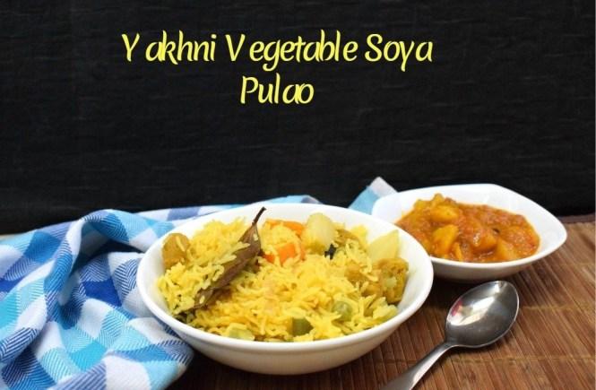 Yakhni Vegetable Soya Pulao