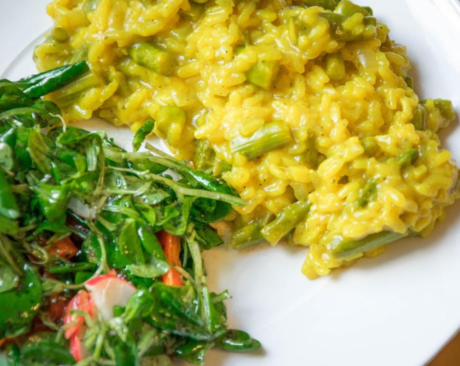 Rezept Orangen Risotto ohne Käse mit grünem Spargel Spicy-Love Spicy love