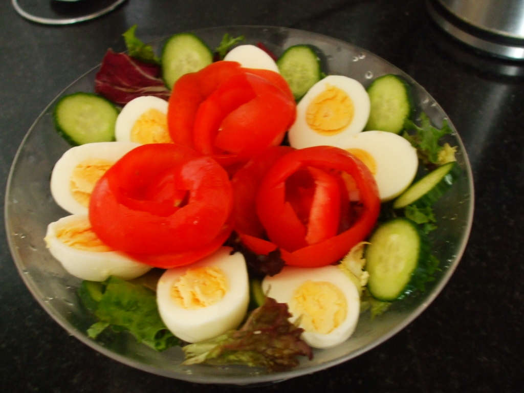 Egg and vegetable salad