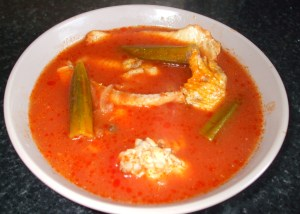 Fish and duck wings light soup