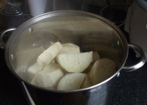 cooked yam