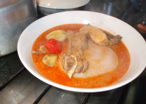 fufu with peanuts soup
