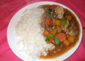 rice with onion gravy