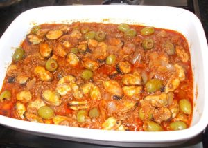 Mussels and Olive Stew