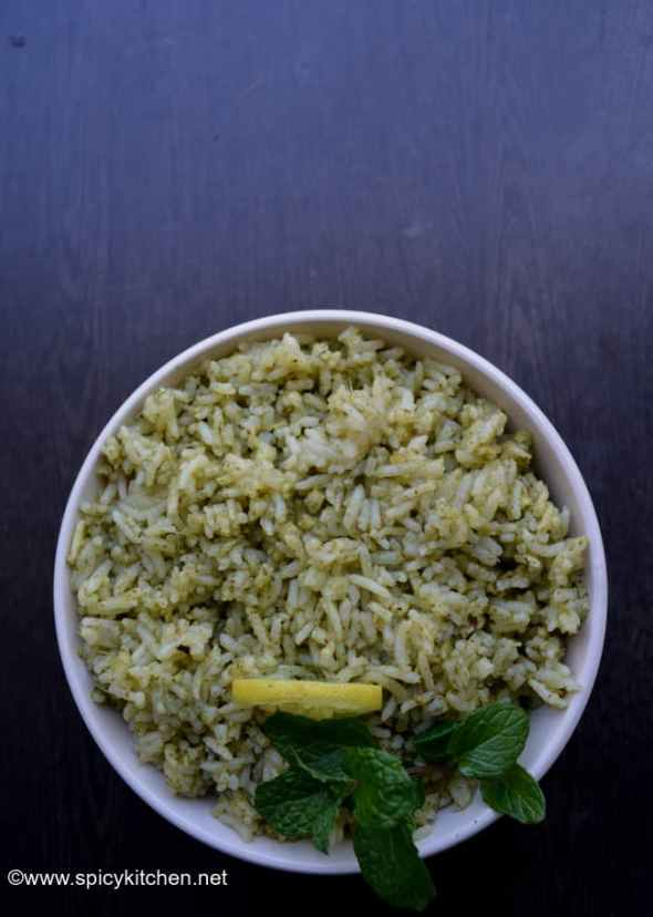 how to make mint rice