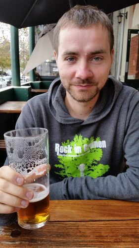 erstes Bier in Perth