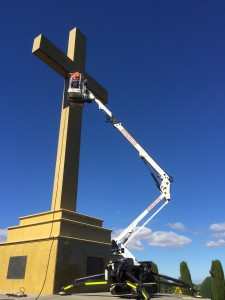 boom lift maintenance job.