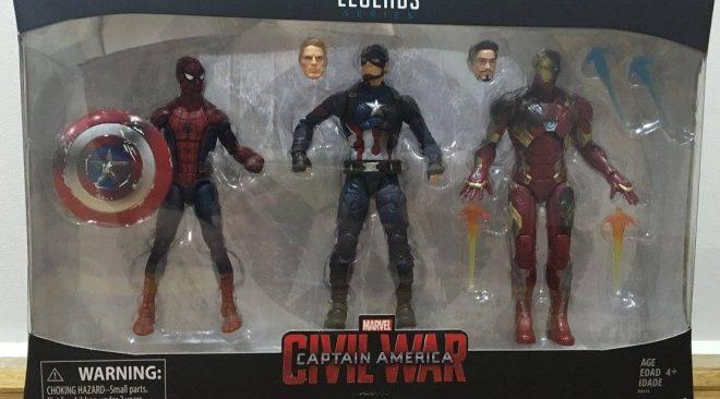 Marvel Legends Civil War 3 Pack Review