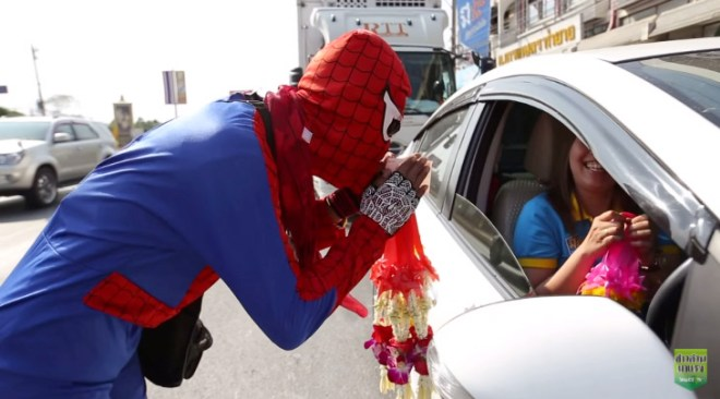 Flower Spider-Man Saves the Day