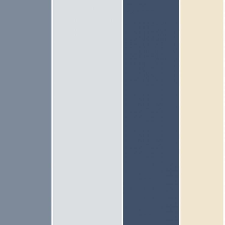 Carta Da Parati A Righe Azzurro Blu Grigio E Bianco
