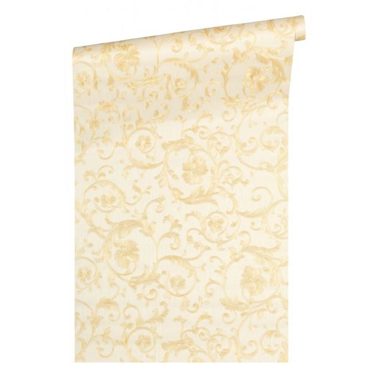 Carta da parati Versace Floral White Beige Glitter  originale