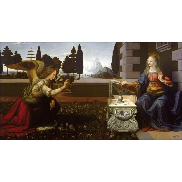Quadro Annunciazione di Leonardo da Vinci