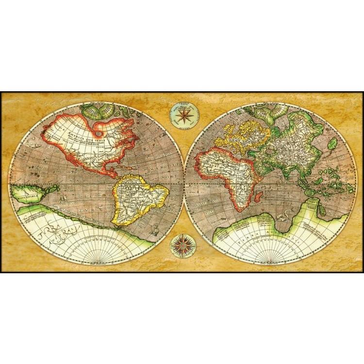 Mappamondo Antico  Quadro su tela di alta qualit effetto