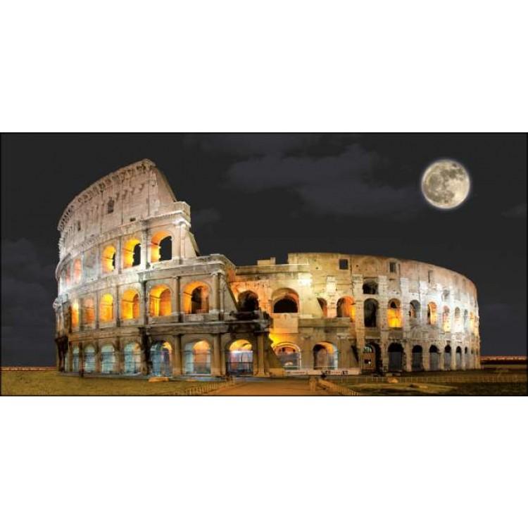 Quadro Colosseo di sera  Con telaio in legno by Lupia